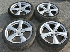 "Tiffando 18"" 5x120 Alloy Wheels VW Transporter Vivaro Ducato Citroen Relay Boxer Vauxhall Insignia"