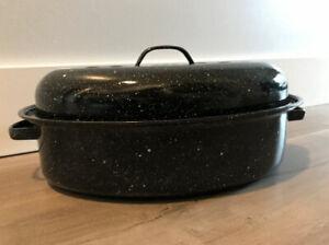 Great Condition- Metal Roasting Pan (Black)