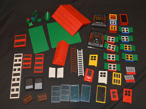 LEGO House LOT roof windows doors baseplates etc LOOK!
