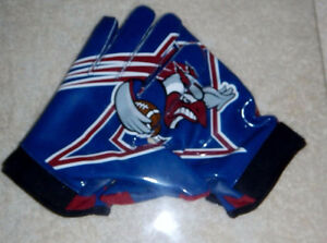 AUTHENTIC CFL FOOTBALL GLOVES - MONTREAL ALOUETTES + MORE