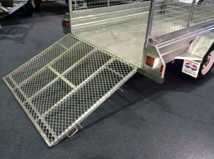 Fully Hot Dipped Galvanized 8x5 Ramp Box Trailer with Mesh Cage Meadowbrook Logan Area Preview