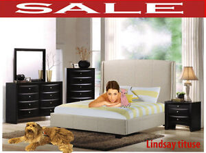 Lindsay queen beds sets, TV chest, night stand, dresser, mirror,