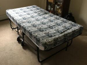 Rollaway Twin Bed With Foam Mattress