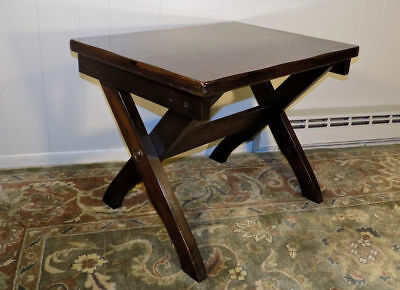 Lane Furniture X frame campaign style end or lamp table PIne # 463 5 ()