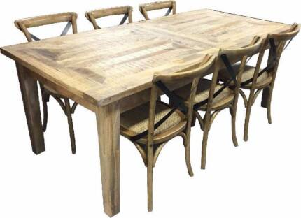 270cm Extension Dining Table Arcadia Mangowood Parquetry Solid