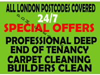 GUARANTEED PROFESSIONAL CHEAPEST END OF TENANCY CLEANING DEEP MOVE-IN CLEANERS CARPET CLEAN DOMESTIC