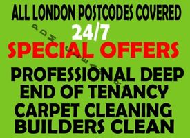 ALL LONDON 🔷 GUARANTEE END OF TENANCY CLEANING CARPET CLEANS SERVICES HOUSE DOMESTIC DEEP CLEANERS