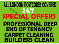 ALL LONDON 🔷 GUARANTEE DEEP END OF TENANCY CLEANING SERVICES CARPET CLEANER HOUSE DOMESTIC BUILDERS