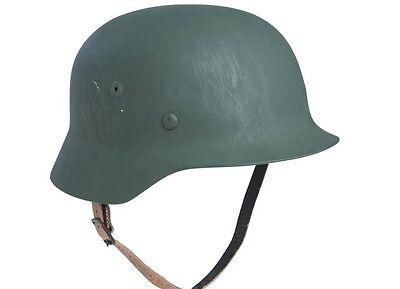 WH Stahlhelm + Kinnriemen M35 Steel Helmet WWII Helmet + Chin Strap Wehrmacht -2