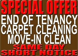 50% OFF SHORT NOTICE END OF TENANCY CLEANER PROPERTY CARPET STEAM DEEP CLEAN DOMESTIC HOUSE CLEANING