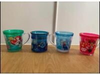 Disney Kids Drinking Cups Frozen Aerial Minnie Mouse Nemo