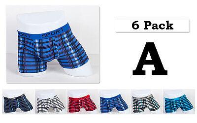 4 pack Mens Boxer Briefs Cotton Underwear Stretch Trunk Short Bulge Lot XS S M