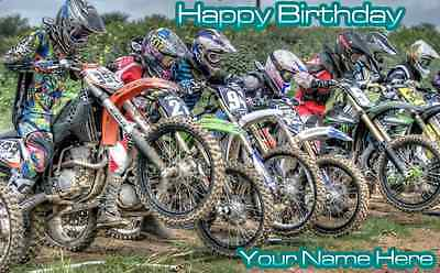 Birthday banner Personalized 4ft x 2 ft  Dirt - Dirt Bike Party Supplies