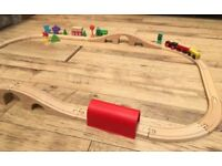 Brio compatible wooden train track £15 for all collection from Shepshed.