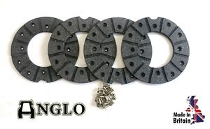 Nuffield 10/42 10/60 3/45 4/65 Tractor Brake Disc Lining Kit with Rivets UK MADE