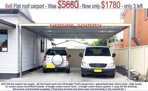 new  carport  flat roof  6  x  6  $1780 Ingleburn Campbelltown Area Preview