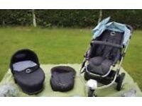Icandy apple travel system . I candy apple 3 wheeler buggy . Pram . Pushchair. Stroller
