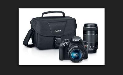 CANON EOS Rebel T6 Digital SLR Camera with 18-55mm & 75-300mm Lenses Kit - New!
