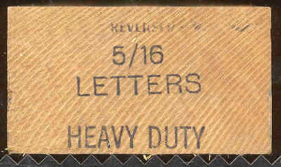 Young Brothers Steel Stamps Reversed Heavy Duty 516 Letters Hand Stamps