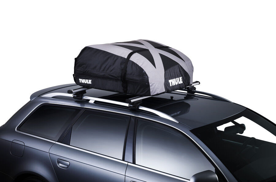 Thule Ranger 90 soft top box and three internal go pack bags