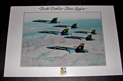 US NAVY BLUE ANGELS F-18 HORNET FLIGHT DEMONSTRATION TEAM Photo Poster Print