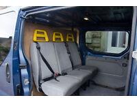 Triple seat - Van bus minibus crew cab Kustombilt with seatbelts.