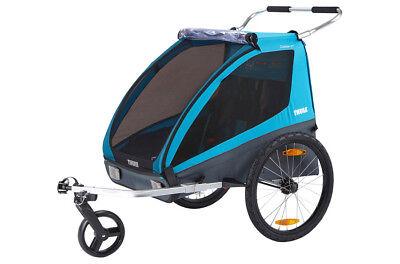 Thule Coaster XT 2 Fahrradanhänger iinkl. Fahrrad- und Buggy-Set - Thule Fahrrad Anhänger
