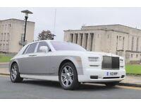 Rolls Royce Phantom Series 2 with starlight headliner - Rolls Royce Phantom hire - Wedding car Hire