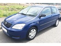 2004 Toyota Corolla 1.4 T2 Owned 10 Year 3 DOOR Long Mot Cheap Insurance Corsa Micra Yaris Golf aygo