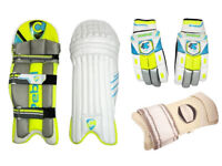 Champ Rebel Cricket Batting Pads, Batting Gloves, Arm Guard Package Adult RRP £70