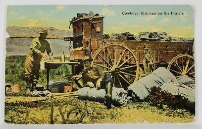 Cowboys Kitchen on the Prairie 1911 Helena Montana to Berlin Pa Postcard R13