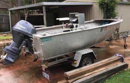Solid Plate Boat Yamaha 4 Stroke 40hp