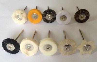60pcs Dental Lab Brush Polishing Wheel Polishers Rotary Tools Jewelry Buffing