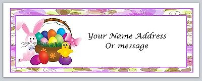 - 30 Personalized Return Address Labels Easter Bunny Chicken Buy3 get1 free(c 56)