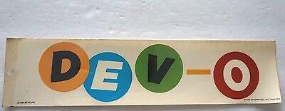 "Vintage Retro Authentic Genuine RARE 1980 DEVO Unused Bumper 12"" X 3"" Sticker"