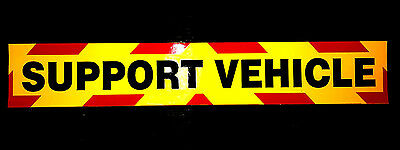 Support Vehicle Fluorescent Magnetic Warning Sign