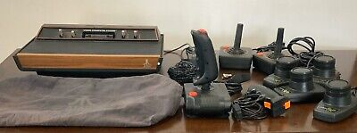 Atari 2600 Console Lot Tested And Working. Comes With Adapter & Rare Dust Cover