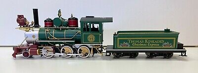 Thomas Kinkade Christmas Express Train Steam Locomotive & Coal Tender Car #001