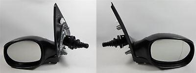Peugeot 206 1998-2009 Door Wing Mirror Manual Black Pair Left & Right