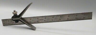Vintage Starrett No. 4 Grad Ruler And Center Finder Square Machinist Tool