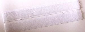 Klettband 2m WEIß klebend Klettverschluss Klettverschlussband Klettklebeband