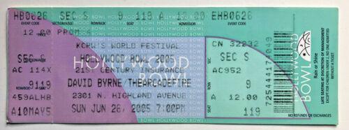 2005 David Byrne & Arcade Fire Hollywood Bowl Ticket Stub 6/26/05 - Hollywood Ca