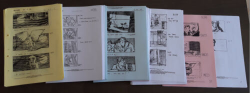 SC 49-64 Diagon Alley Storyboard Harry Potter original prop production used