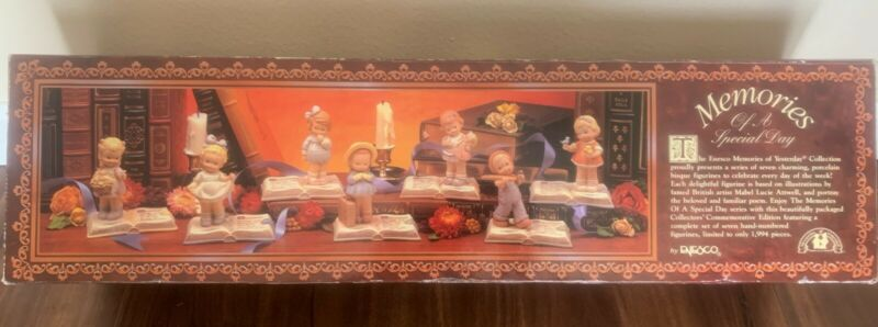 Enesco Memories of Yesterday 7 Figurines Of A Special Day Collector Set 978/1994