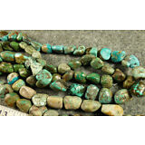 (10) Original Navajo Turquoise Indian Trade Beads 150+ Years Old Larger Sizes