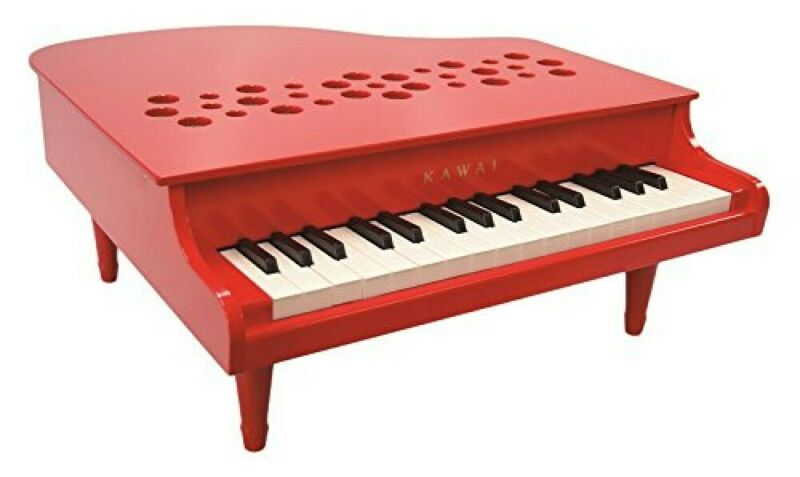 KAWAI Mini Grand Piano Musical Instrument Toy P-32 Red Made In Japan EMS