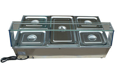 5-kettle Countertop Bain-marie Buffet Food Warmer 412315inch