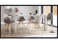 Grey Gloss Dining Table (5wks old)