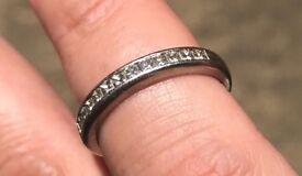 Platinum eternity ring size m