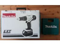 Makita LXT Cordless Combi Drill with 2 18V 3.0Ah Batteries & Drill pack.Brand New.Sealed